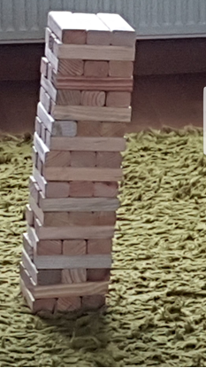 Picture of Janga Giant Tumble Tower - Over 3ft Tall During Play
