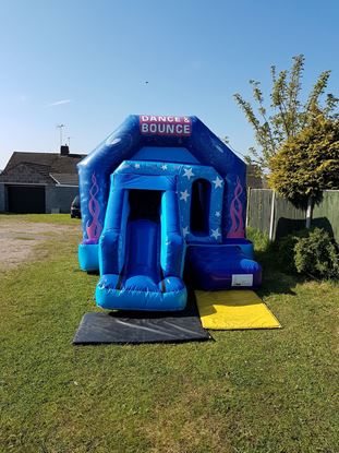 Picture of Front slide bouncy castle disco worksop